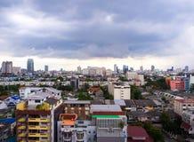 Starke Wolke des Regens in Bangkok-Stadt, Thailand Stockfotos
