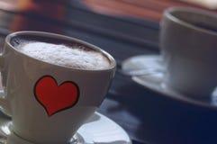 Starker Kaffee des Espressos zwei eingefleischt lizenzfreie stockfotografie