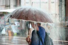 Starker Regen Stockfoto