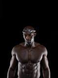 Starker Schwimmer mit perfekter Arznei stockbild