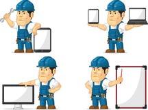 Starker Techniker Mascot 12 Lizenzfreie Stockbilder