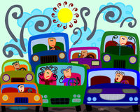 Starker Verkehr Stockfotos