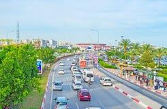 Starker Verkehr in Antalya Stockfotografie