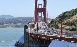 Starker Verkehr auf Golden gate bridge, Verbindungssan francisco zu Marin County Lizenzfreie Stockfotos