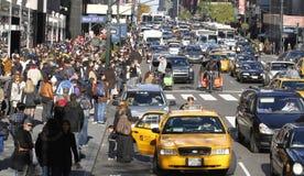 Starker Verkehr 33. Straße New York City Stockfoto