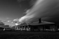 Starker Wind auf Patagonier Estancia lizenzfreies stockbild