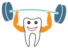 Starker Zahn stock abbildung
