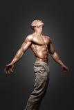 Starkes athletisches Mann-Eignungs-Modell Torso, das sechs Satz-ABS zeigt Lizenzfreie Stockbilder