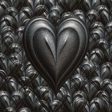 Starkes Liebes-Valentinsgrußinneres Stockbild