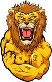 Starkes Maskottchen des Löwes Stockbild