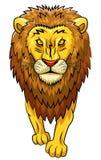 Starkes Maskottchen des Löwes Stockbilder