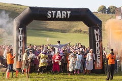 Starkes mudder London 2015 Süd Stockbilder