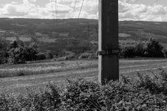 Starkstromleitungen Stockfoto