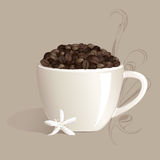 starkt kaffe stock illustrationer