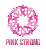 Starkt rosa folk stock illustrationer