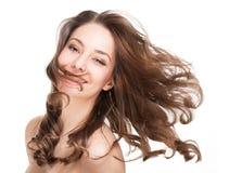 Starkt sunt hår Fotografering för Bildbyråer