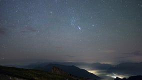 Starlapse nad Austriackim miasteczkiem zdjęcie wideo