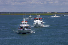 Starlight, Atlantic Star and Royal Flush Charter Boat in Wildwood, Stock Photo