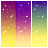 Starlight on the colorful sky Royalty Free Stock Photos