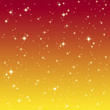 Starlight on the colorful sky Royalty Free Stock Photography