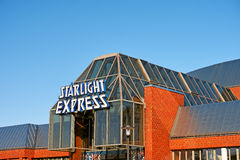 Starlight Express at Bochum. Bochum, Germany - October 11, 2015: Stage of the famous Starlight Express Musical  in Bochum Stock Photo