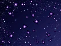Starlight night. Stars in the night. Fractal image Royalty Free Stock Images