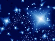 Starlight night. Stars in the night. Fractal image Royalty Free Stock Image