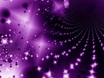 Starlight night. Violet stars in the night Royalty Free Stock Photography