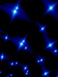 Starlight night. Blue stars in the night Royalty Free Stock Photography
