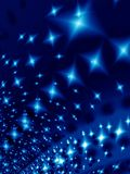 Starlight night. Blue stars in the night Royalty Free Stock Image