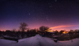 Starlight night. In the Ukraine Stock Photography