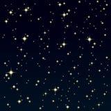 Starlight på den färgrika skyen Royaltyfri Fotografi