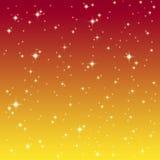 Starlight på den färgrika skyen vektor illustrationer