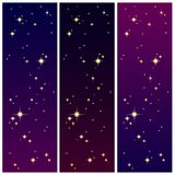 Starlight på den färgrika skyen royaltyfri illustrationer