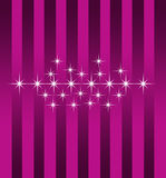 Starlight purple wallpaper Stock Image