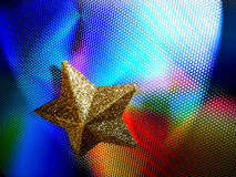 Starlights2. Yellow Star on colored steel background Royalty Free Stock Photo