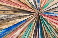 Starlike drewno deski Malujący i grinded tekstury tło Obraz Stock