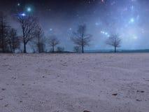 Starlit предпосылка Premade ночи Стоковое Изображение RF