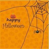starlit gata för allvarlig halloween vykortsky Arkivbild