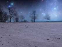 Starlit nocy Premade tło Obraz Royalty Free