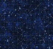 Starmap Sterne und Weltraum Stockbild