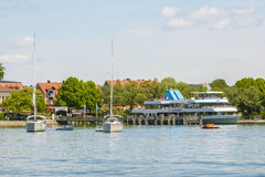 Starnberg harbor, Bavaria, Germany Royalty Free Stock Images