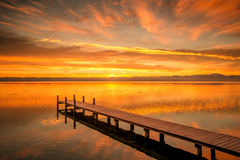 Starnberg Lake in Germany Sunrise Stock Photography