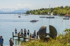 Starnberger看见,巴伐利亚,德国 免版税库存照片