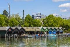 Starnberger lake harbor, Bavaria, Germany Royalty Free Stock Photos