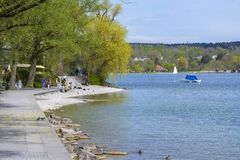 Starnberg Lake side royalty free stock photography