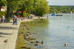 Starnberger ser, Bayern, Tyskland Arkivfoton