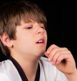 Starnuto di allergia Fotografia Stock