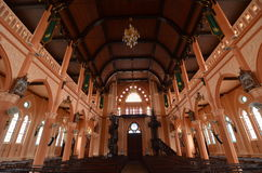 Starość kościół katolicki w Tajlandia Zdjęcia Stock