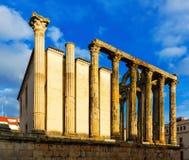 starożytna świątynia Merida, Hiszpania Zdjęcia Stock